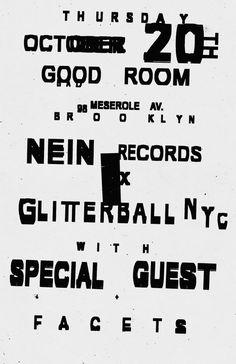 Nein Records x GlitterballNYC | poster: Bráulio Amado
