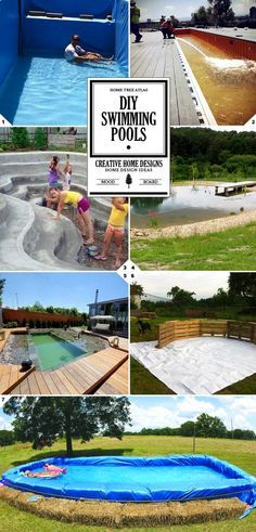 7 DIY Swimming Pool Ideas and Designs: From Big Builds to Weekend Projects - Piscina Diy Swimming Pool, Natural Swimming Pools, Diy Pool, Pool Spa, Homemade Swimming Pools, Building A Swimming Pool, Natural Pools, Indoor Swimming, Weekend Projects