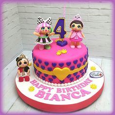 LOL Surprise Dolls Birthday Cake Made out of fondant!