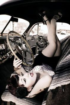 tattoo pinup girl http://thepinuppodcast.com features pinup models and pin up photographers.