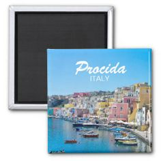 Shop Italy - Refrigerator Magnet created by stdjura. Souvenirs From Italy, Refrigerator Magnets, Mediterranean Sea, Naples, Pastel, Island, Block Island, Cake, Islands