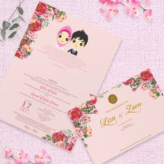 Pink Wedding Invitation  #invitationdesign #invitation #weddinginvitation #schellialion #wedding #weddingcard