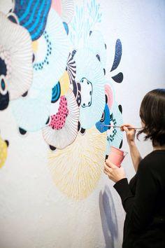 Yellena James Art Mural, Wall Murals, Exterior Design, Interior And Exterior, Yellena James, Bizarre, Tatoos, Drawings, Illustration