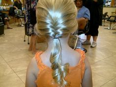 Little girl hair style! Cheyennes came out adorable!