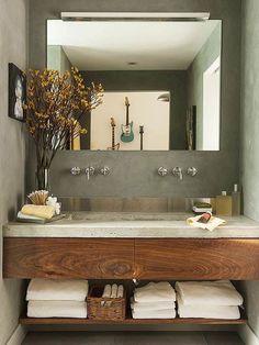 30 ideas para combinar tus muebles de baño de estilo actual · 30 ideas to combine your bathroom furniture Bad Inspiration, Bathroom Inspiration, Bathroom Ideas, Bathroom Remodeling, Bathroom Designs, Bathroom Makeovers, Bathroom Organization, Bathroom Styling, Bathroom Interior Design