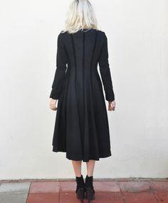 Velvet striping detail and fullness of the skirt detail.
