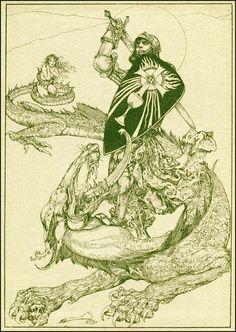 Parsifal, illustré par Willy Pogany (1912) | La Quête du Graal