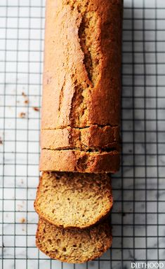 Whole wheat banana bread with coconut oil