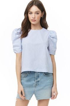 Forever 21 is the authority on fashion & the go-to retailer for the latest trends, styles & the hottest deals. Shop dresses, tops, tees, leggings & more! Designer Blouse Patterns, Blouse Designs, Diy Embroidery Shirt, Gamine Style, Crop Top Sweater, Fall Outfits, Fashion Outfits, White Casual, Shirt Blouses