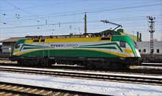 Taurus class 182.570 of Gysev Cargo (HU)  at station Lambach - by Andreas Kepplinger - 07 february 2015