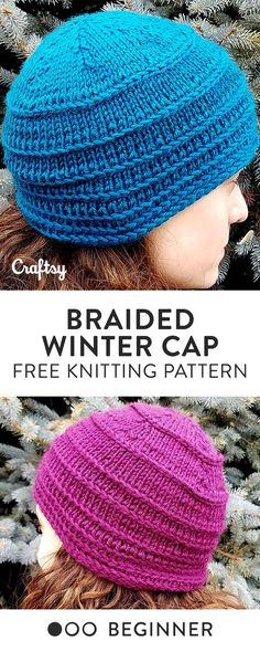 Keep your noggin nice and warm this fall with a knitted hat. Knit the free beginner pattern in the round with your favorite color of cozy yarn.