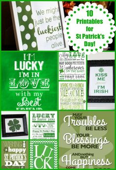 10 Free Printables to Decorate Your Home for St Patrick's Day