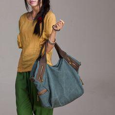Large Capacity Canvas Shoulder Bag - Tkdress  - 1
