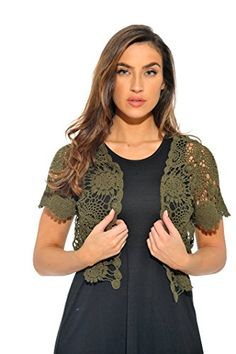 New Trending Outerwear: 401147-OLIVE-S Just Love Bolero Shrug / Women Cardigan. 401147-OLIVE-S Just Love Bolero Shrug / Women Cardigan  Special Offer: $14.99  188 Reviews Just Love styles prides itself on value. We focus on giving the consumer the latest fashion and styling at prices that won't break the bank.ALL ABOUT THE DETAILS! – Complete your...