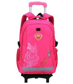 a3107afc41 2016 Cartoon Waterproof Boys and girls flash Trolley School Bag Classic  Travel Luggage Suitcase On Wheels Kids Rolling Backpack
