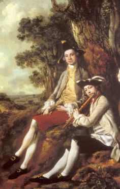 Detail from Thomas Gainsborough, 'Peter Darnell Muilman, Charles Crokatt and William Keable in a landscape', c. 1750; reproduced courtesy of and with thanks to the Tate.  Copyright Tate, London, 2002