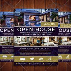 Elegant Realtor Open House Flyer Real by CreativeEtsyDesigns
