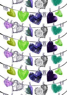 Hehku, lila green by Lauri Tähkä Heartdesign