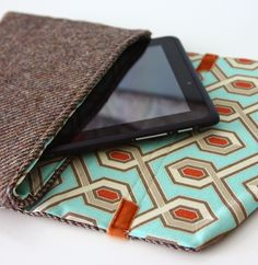IPad case made from up cycled men's jacket - Diary of a Quilter