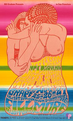 Jefferson Airplane at Fillmore Auditorium 11/25-27/66 by Wes Wilson