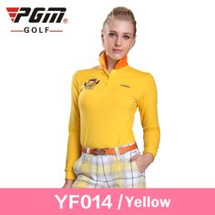 Brand Golf cotton womens golf shirts plus size golf clothes polo manche longue golf femme ladies polo long yellow t-shirt XXL