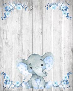 Baby Elephant Nursery, Elephant Party, Elephant Theme, Juegos Baby Shower Niño, Baby Shower Invitaciones, Baby Shower Table, Baby Boy Shower, Homemade Stuffed Animals, Baby Record Book