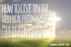 How to live in the very real freedom of