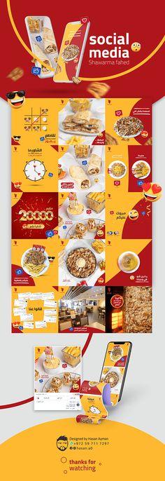 Food Graphic Design, Food Poster Design, Food Design, Social Media Poster, Social Media Design, Shawarma, Business Cards Layout, Feeds Instagram, Food Banner
