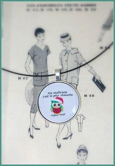 Collier Joyeux Noël maîtresse : Collier par zaza-la-bricole