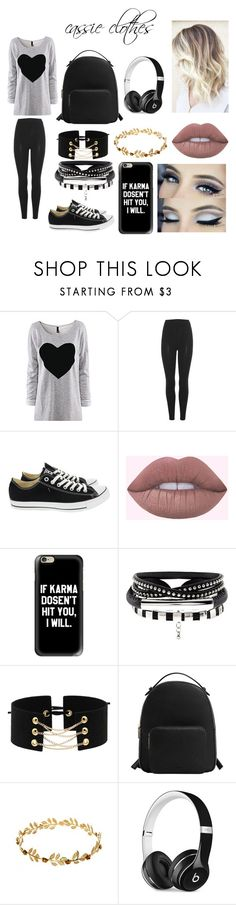 """""""cassie my friend"""" by belieber64 ❤ liked on Polyvore featuring beauty, adidas Originals, Converse, Casetify, MANGO and Beats by Dr. Dre"""