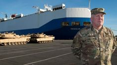 The largest shipment of US brigades since the Cold War is arriving in northern Germany.