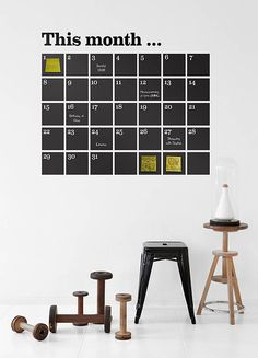 post-it wall calendar