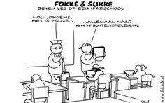 Fokke en Sukke geven les op een iPadschool (NRC, VR, 23-08-13) #FokkeSukke