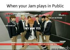 When your Kpop Jam plays in Public #swag