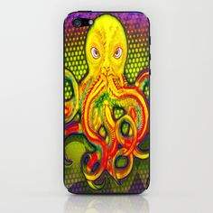 Mellow Yellow Octo iPhone & iPod Skin