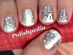 ▶ Snowman Nail Art - YouTube