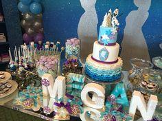 Frozen dessert table by Sweet September!!