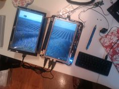 Harlequin Project Dual Touchscreen Tablet Mod running Windows 7.
