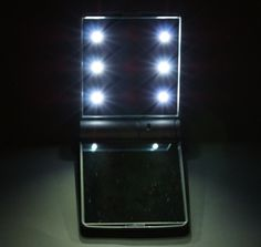 Pebble Grey LED Cosmetic Mirror: Review and Giveaway