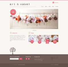 The homepage of Art and Mabel, which is built using WordPress and Jigoshop - full showcase on Jigoshop.com