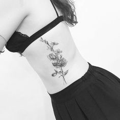 Side Rose tattoo