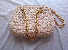 Vintage crocheted handbag by reevette on Etsy, $44.99