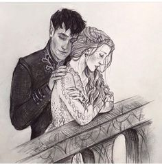 Artist??? Feyre and Rhys! Gorgeous..