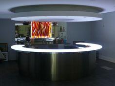 Glass bartop  CBD Contemporary Kitchen Bath Design Custom arhitectural textured glass New York Chicago Toronto