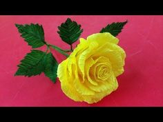 How to Make Rose Crepe Paper Flowers - Flower Making of Crepe Paper - Paper Flower Tutorial - YouTube