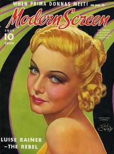 British actress Madeleine Carroll on the cover of Modern Screen July 1937