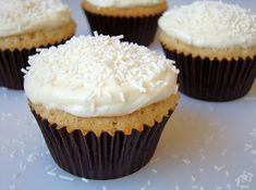 Shauna Sever's White Chocolate Cupakes with White Chocolate Cream Cheese Frosting (one of my favorite cupcake recipes, ever!)