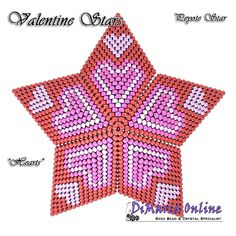 TUTORIAL VALENTINE HEARTS 3D PEYOTE STAR + Basic Instructions Little 3D Peyote Star This beading pattern provides a colour diagram and text to create the Valentine Hearts 3D Peyote Star. Included are also the step by step instructions with clear 3D images of how to create a 3D Star in