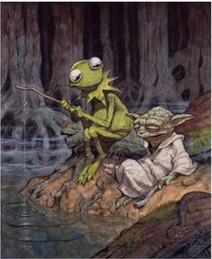It's not easy being green, said Yoda to Kermit...
