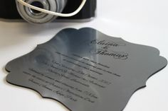 stainless steel style acrylic invite